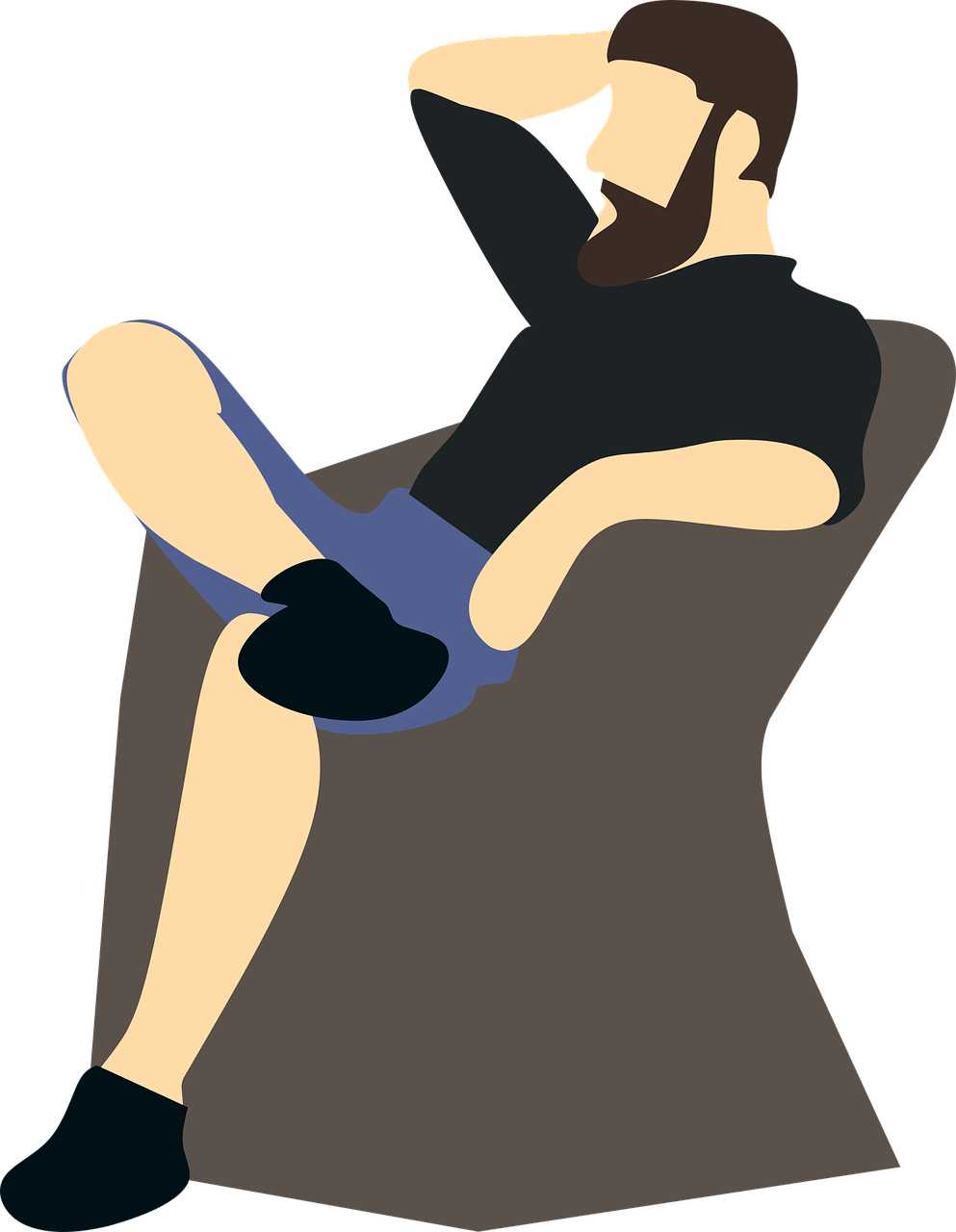 man,sitting,thinking,take a rest,vacation,holiday,fine,vector,free vector graphics,free pictures, free photos, free images, royalty free, free illustrations