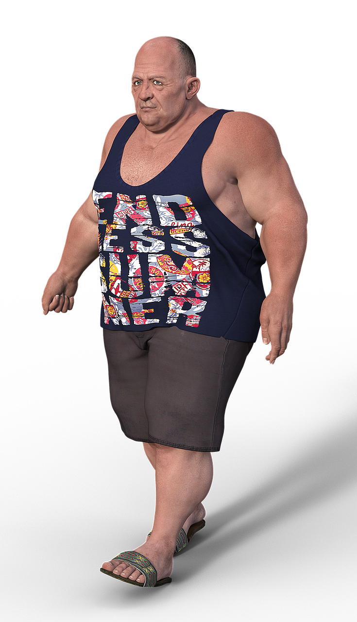 Man,overweight,casual,muscular,clothing - free photo from