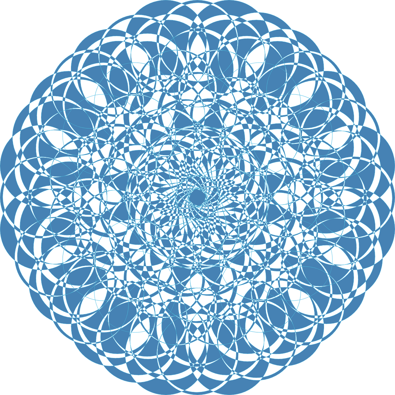 mandala blue doily blue lace free photo