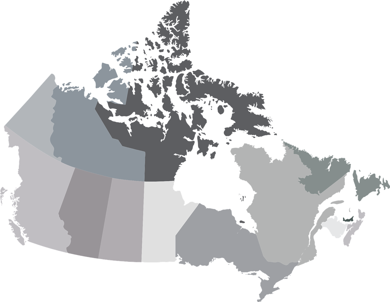 map canada provinces free photo