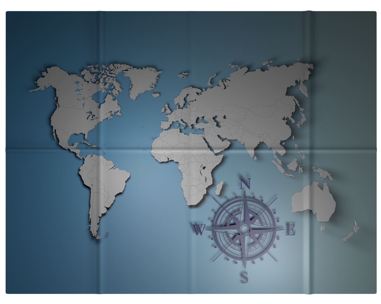 Map Bent World Map Of The World Blue Free Photo From Needpix Com