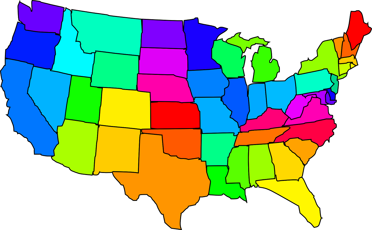 Picture of: Map United States Usa America States Free Image From Needpix Com