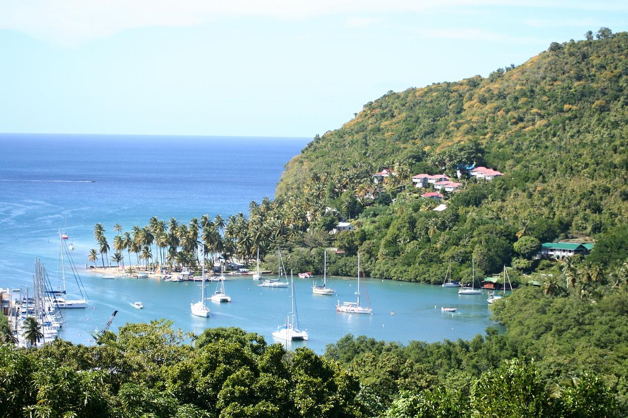 Marigot bay,st lucia,landscape,island,caribbean - free image from  needpix.com