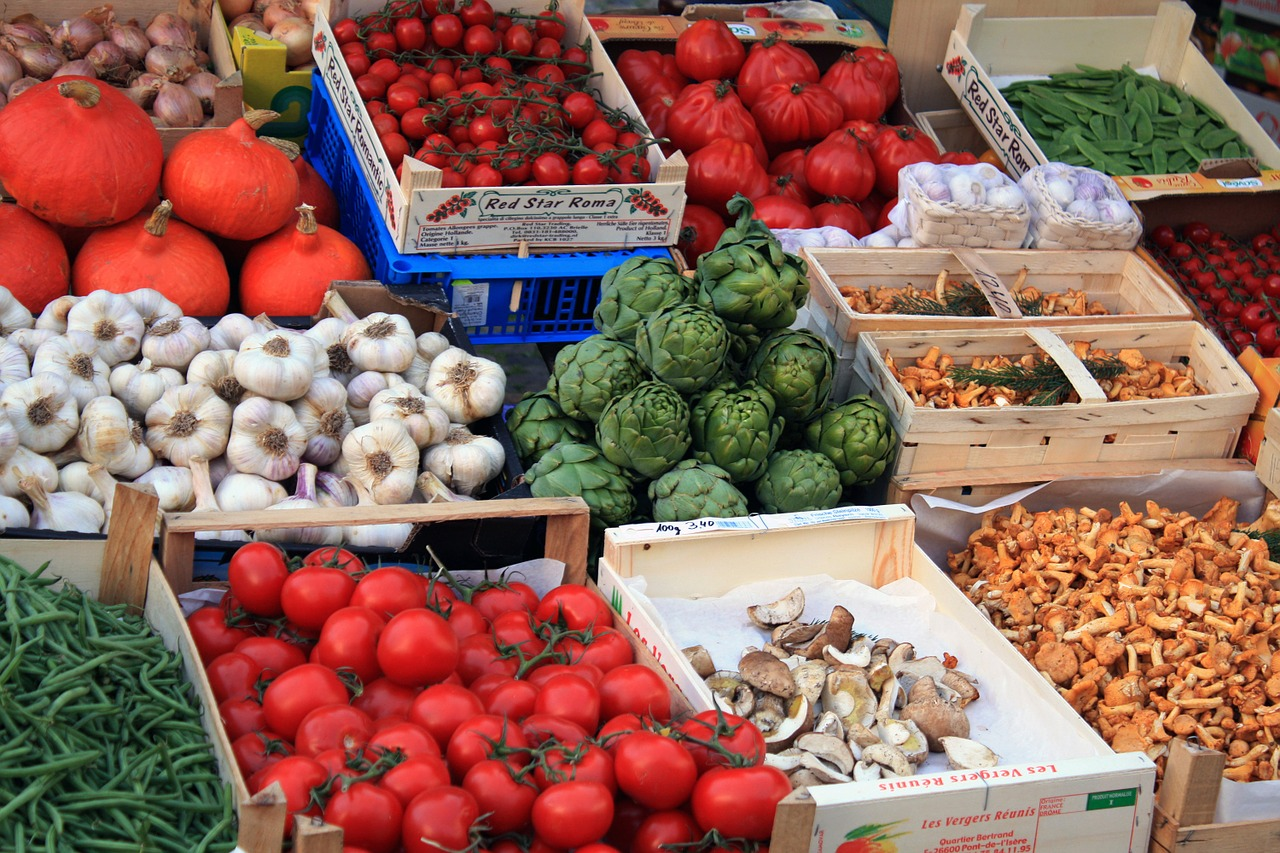 market vegetables food free photo