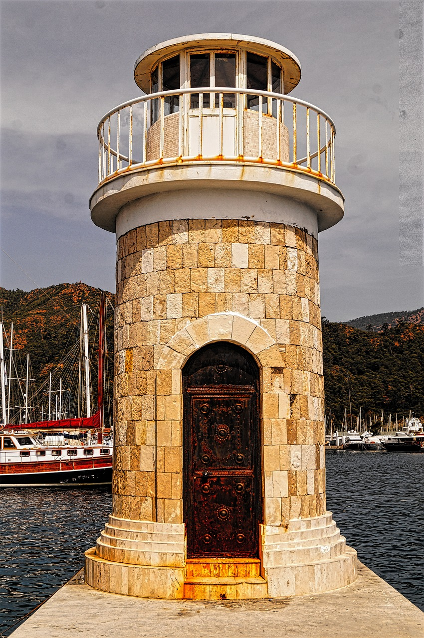 marmaris marine lighthouse free photo