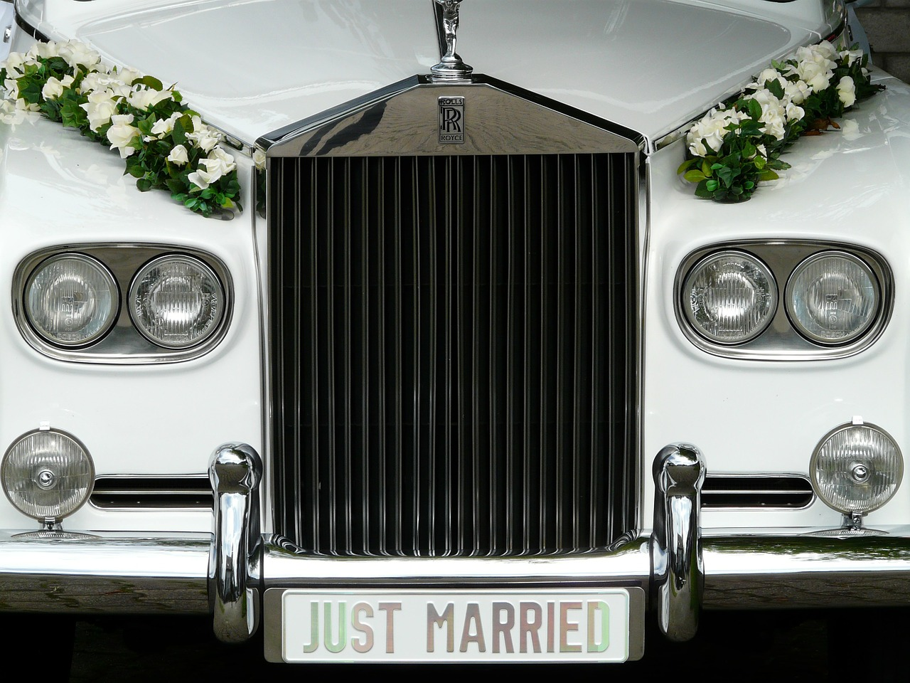 marry bridal car marriage free photo