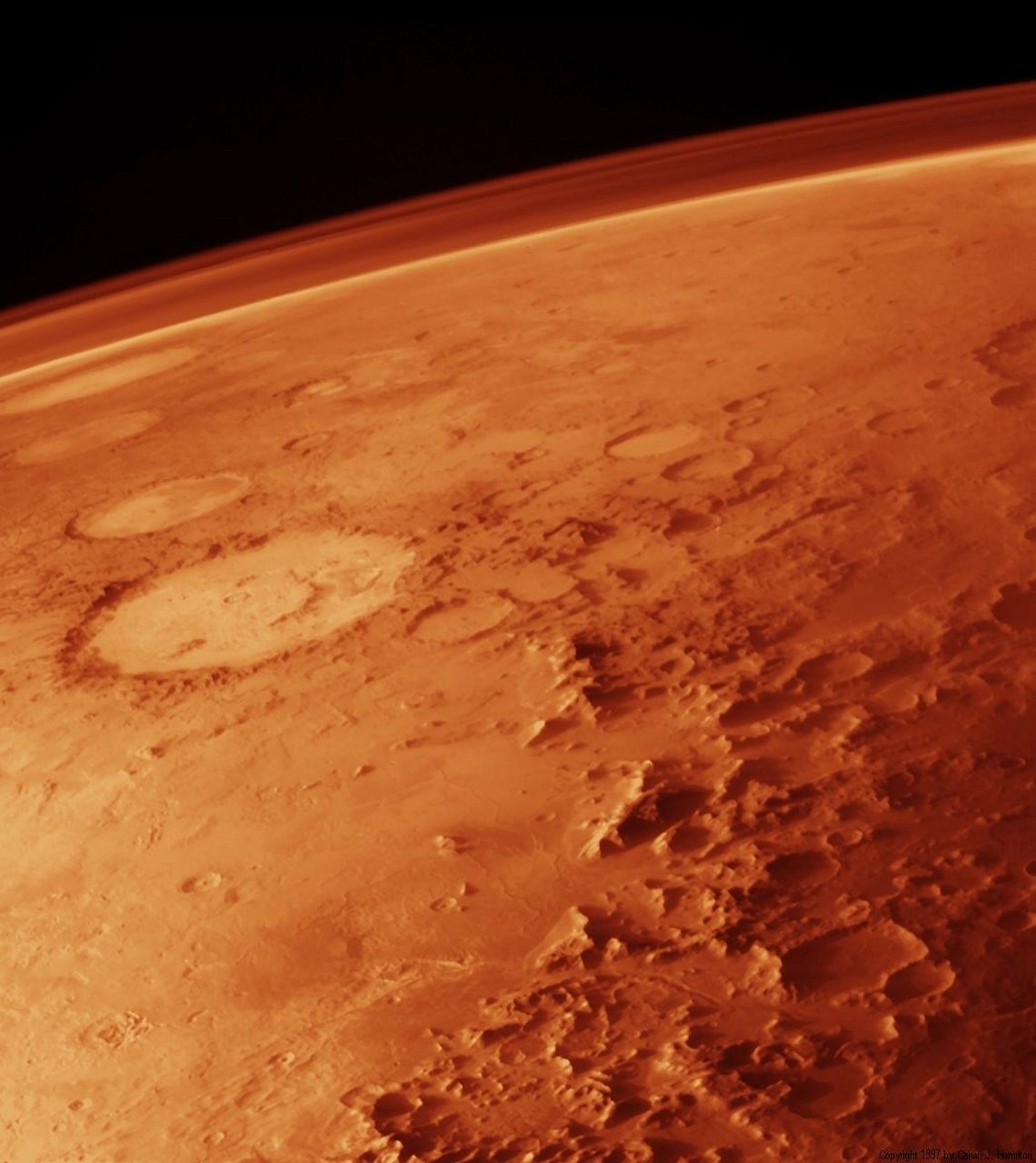 mars planet atmosphere free photo
