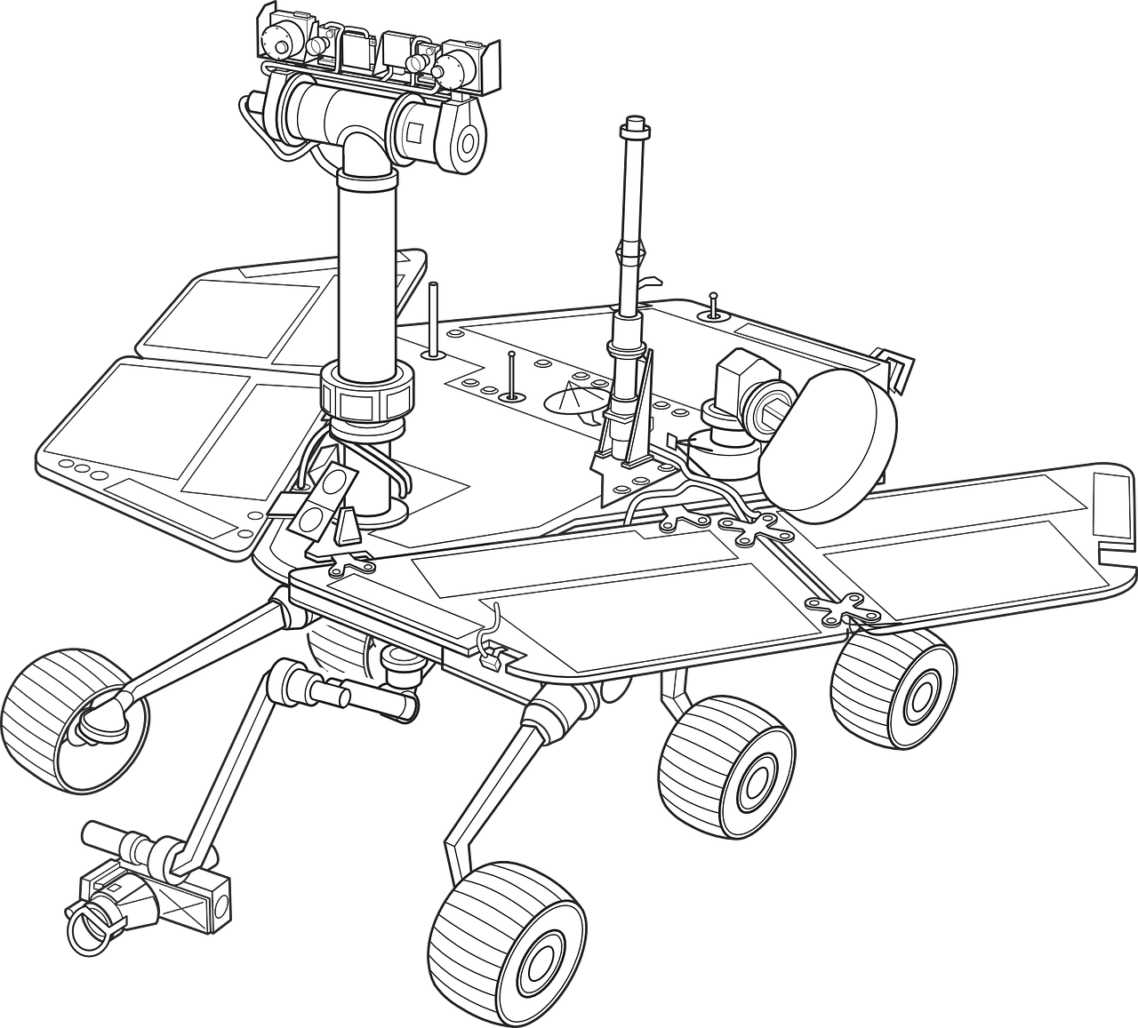 mars rover exploration free photo