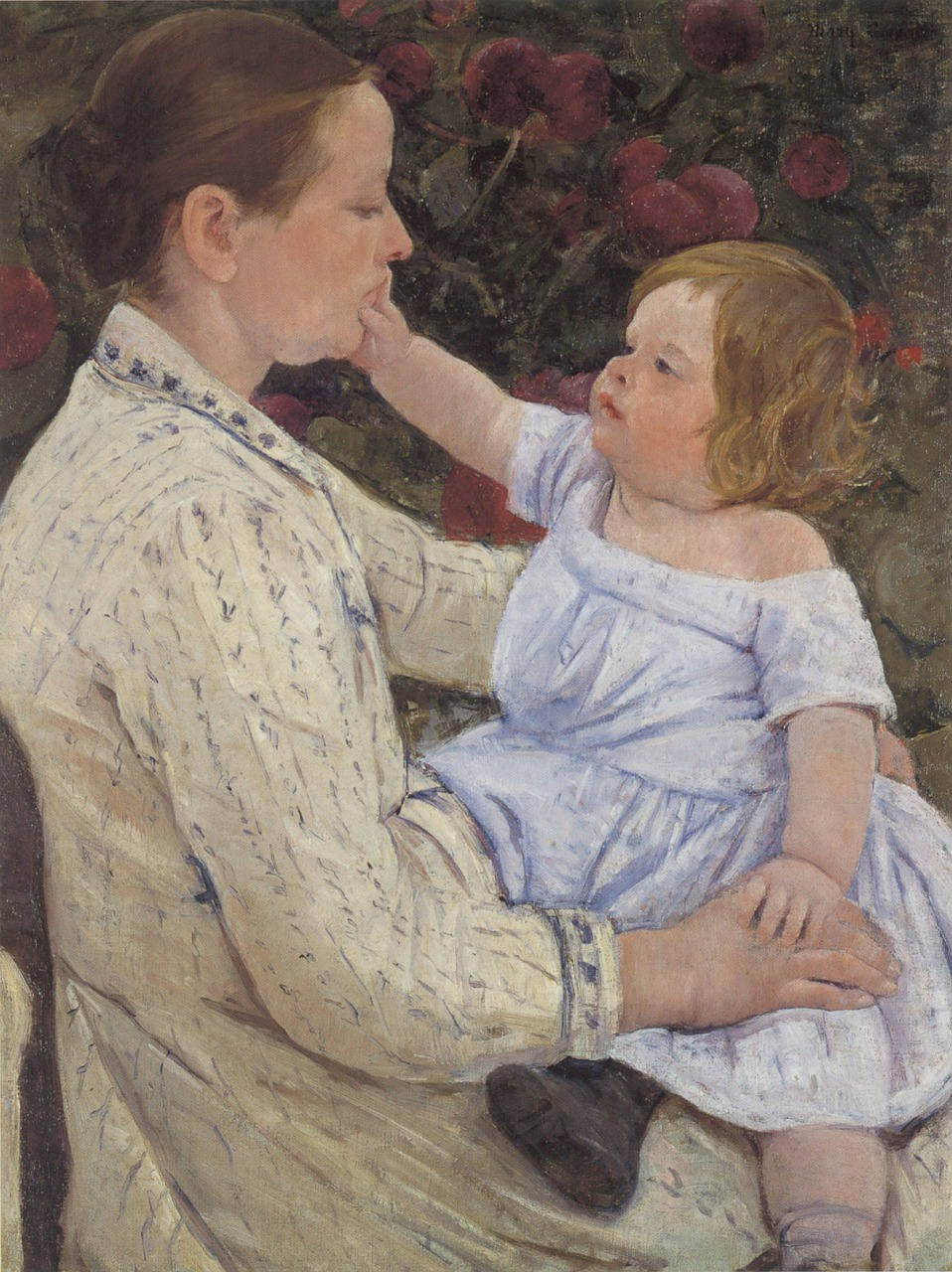 mary cassatt painting oil on canvas free photo
