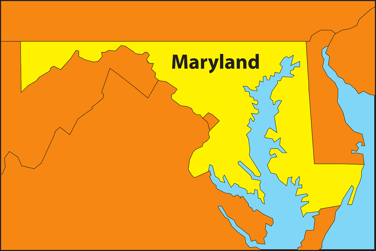 maryland map geography free photo
