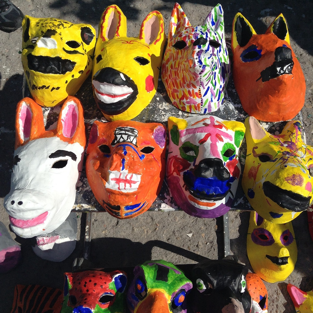 Masks,animals,paper mache,free pictures, free photos - free image ...
