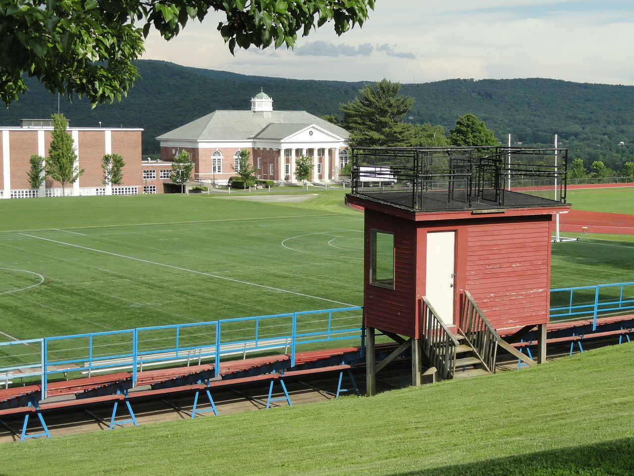 massachusetts school athletic field free photo