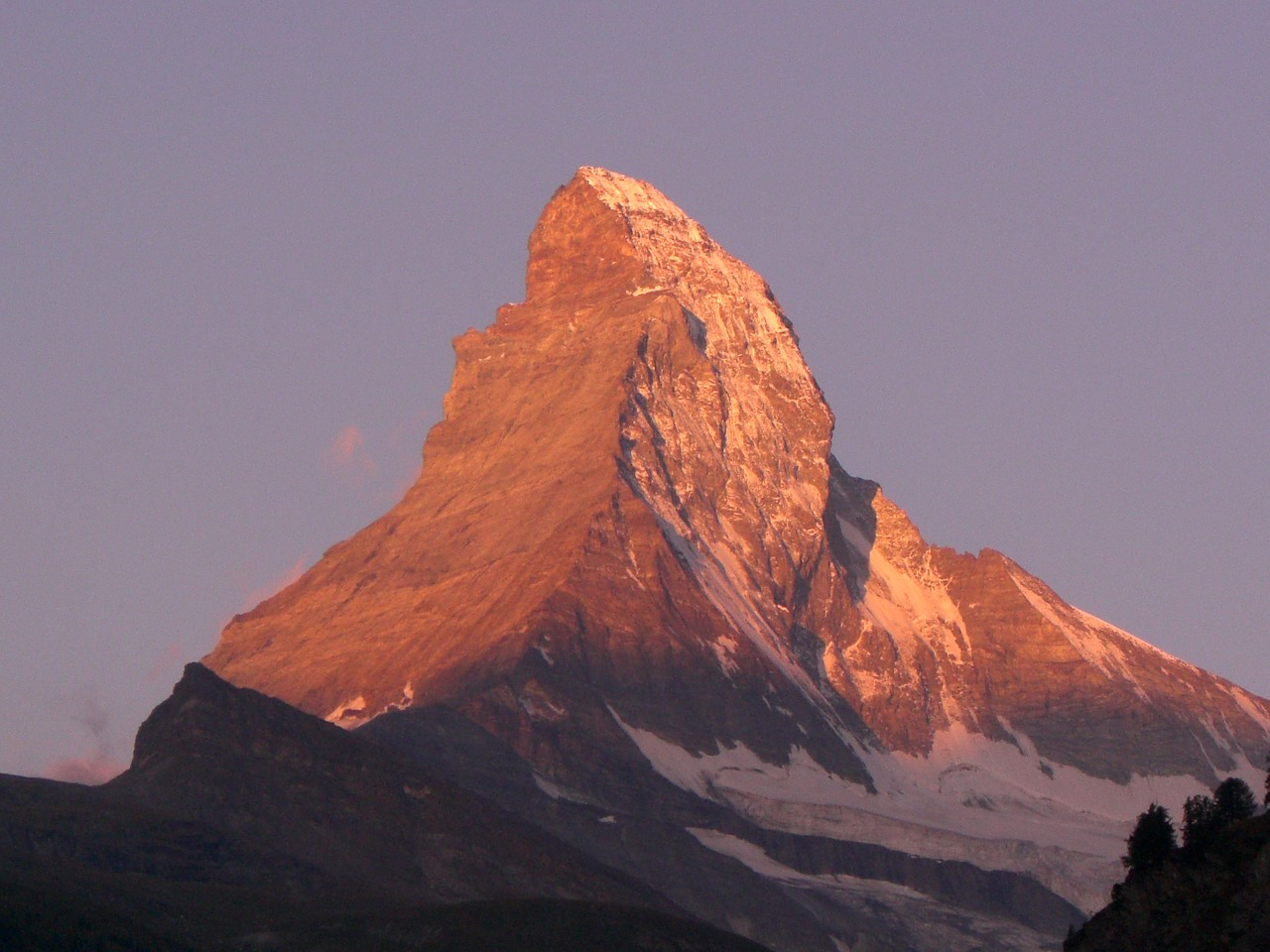 matterhorn alpine valais free photo