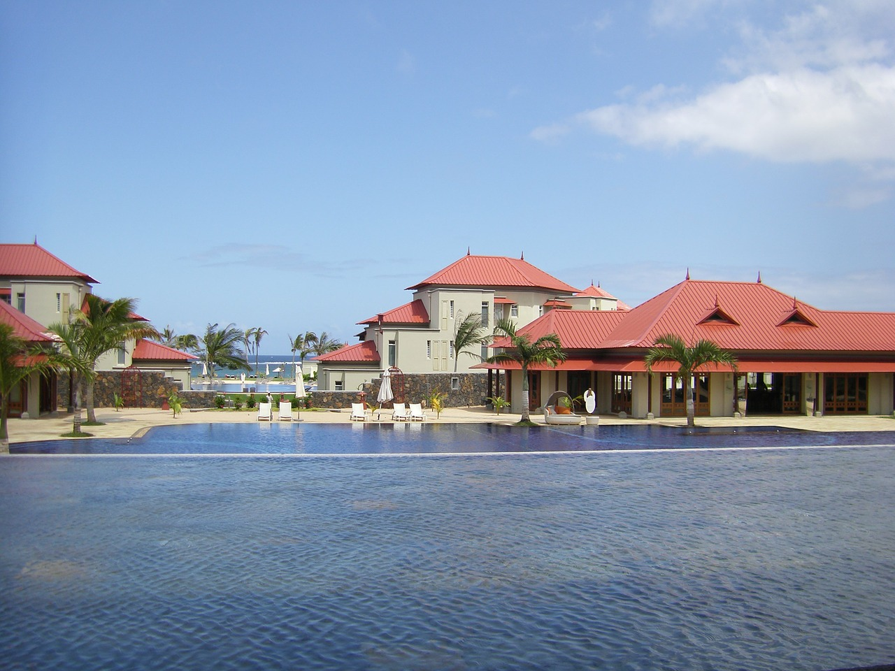 mauritius hotel pool free photo