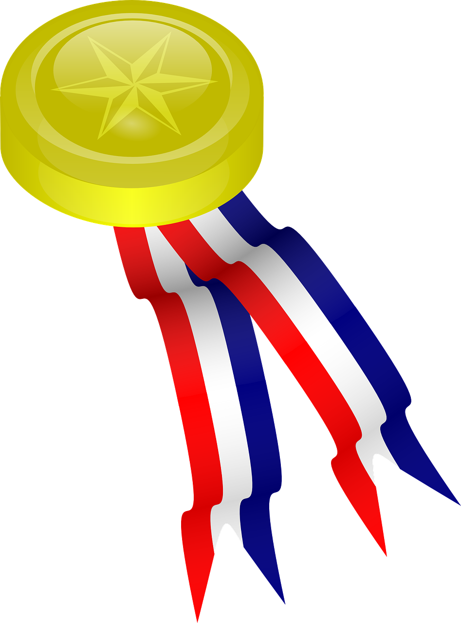 medal ribbon award free photo
