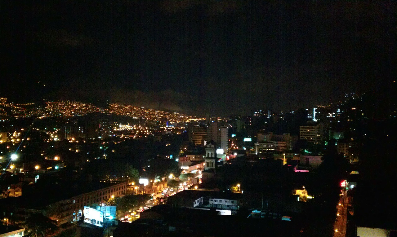 medellin colombia night scene free photo