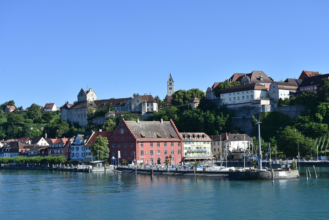 meersburg lake constance castle free photo