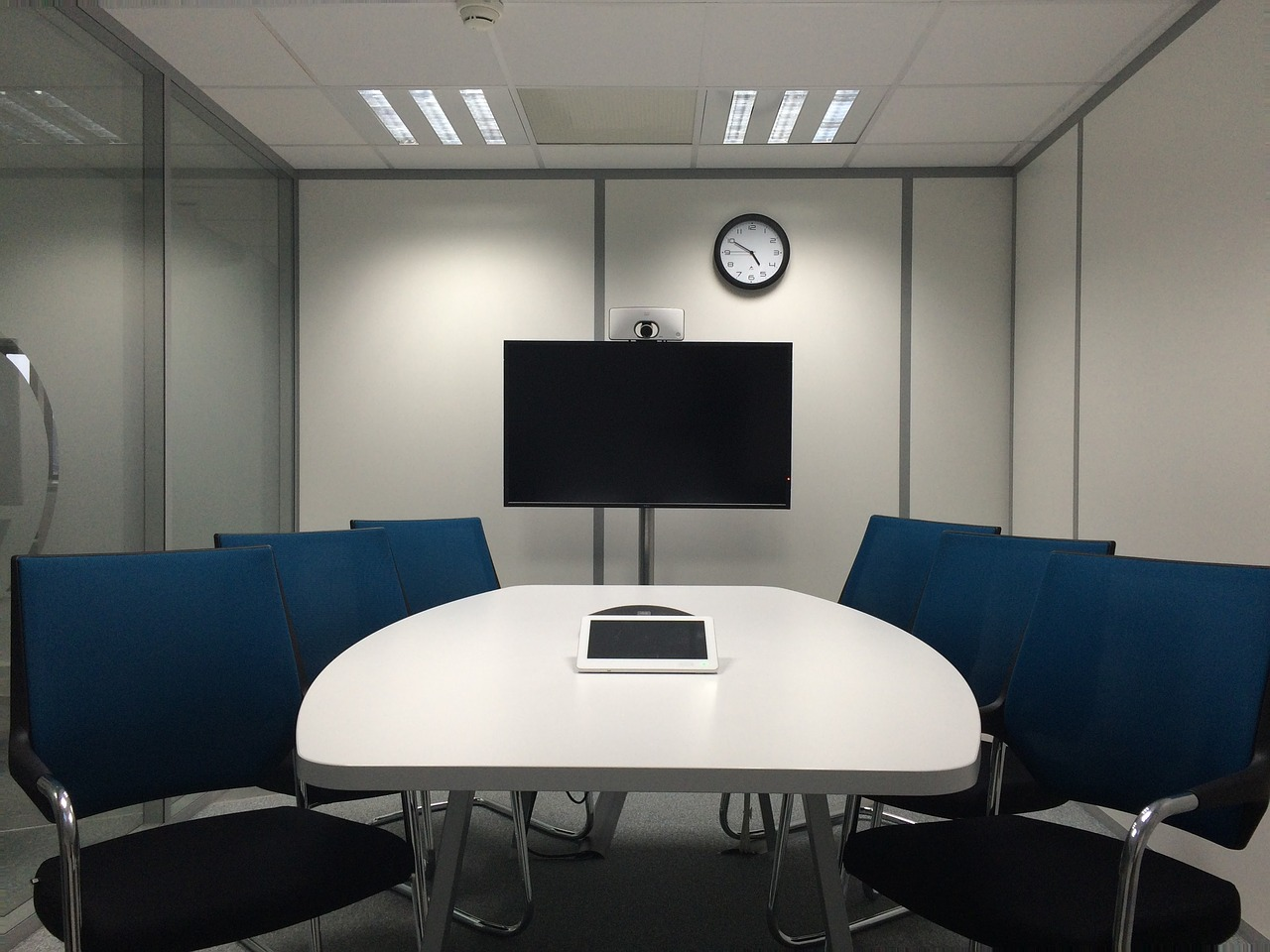 meeting room table business free photo