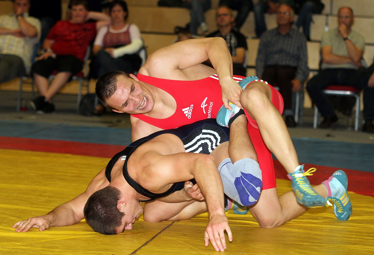 men wrestling competition free photo
