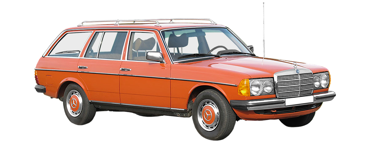 mercedes benz w123 t-model station wagon free photo