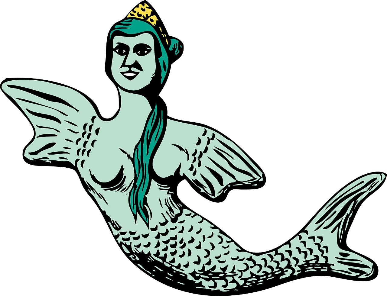 mermaid fish woman free photo