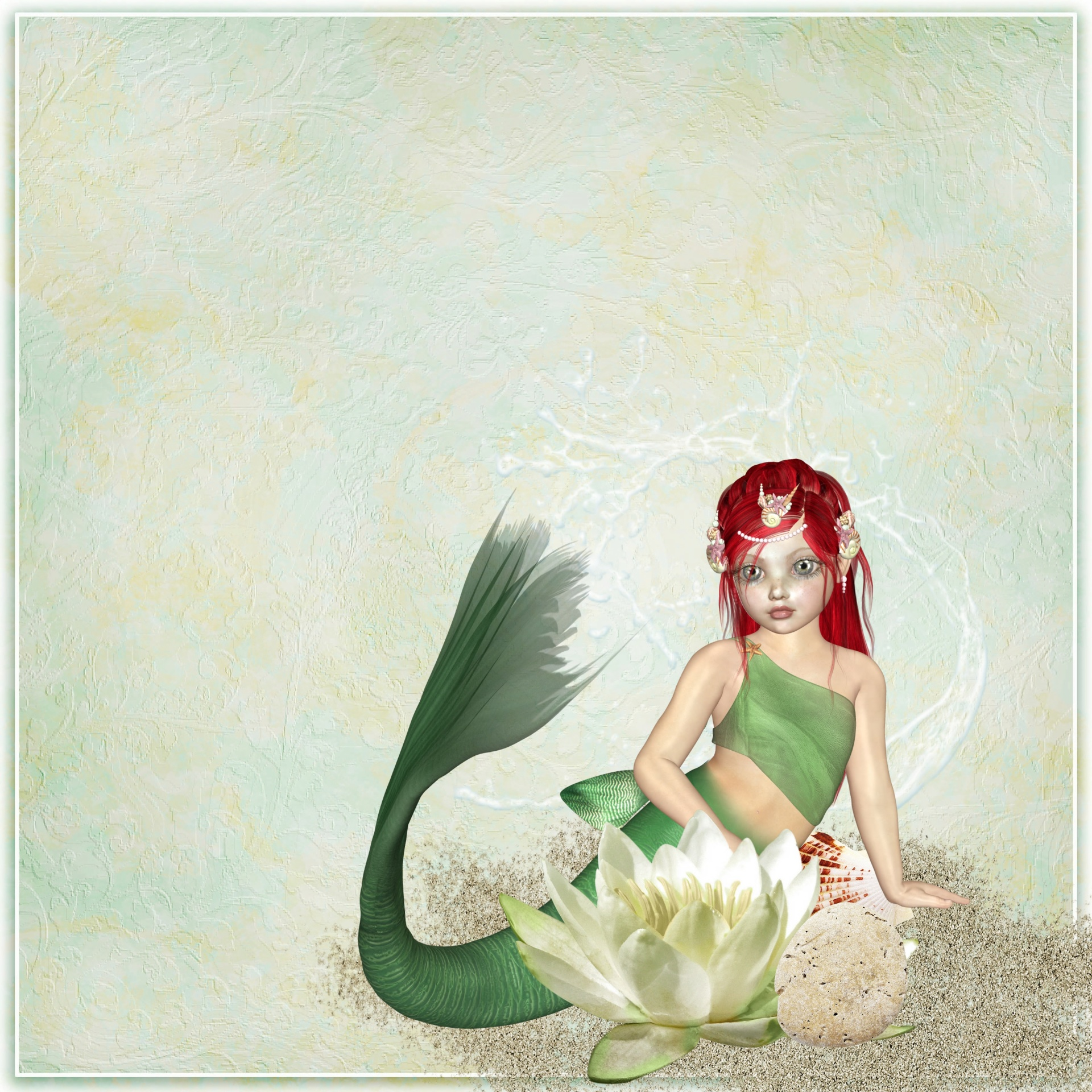 Mermaidkidsfantasylotusflower Free Photo From Needpixcom