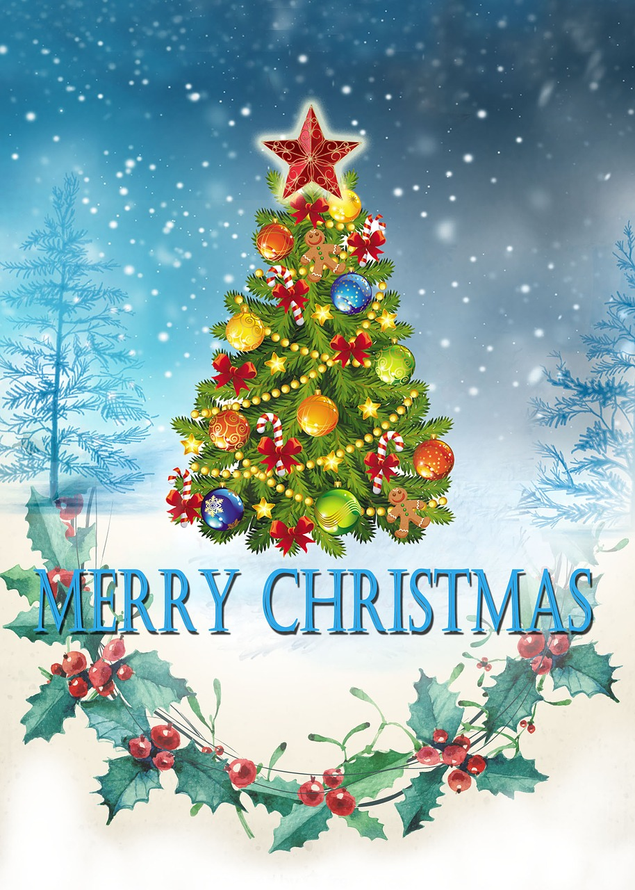 Merry Christmas Cardhappy Holidaysmerry Christmas And Happy New