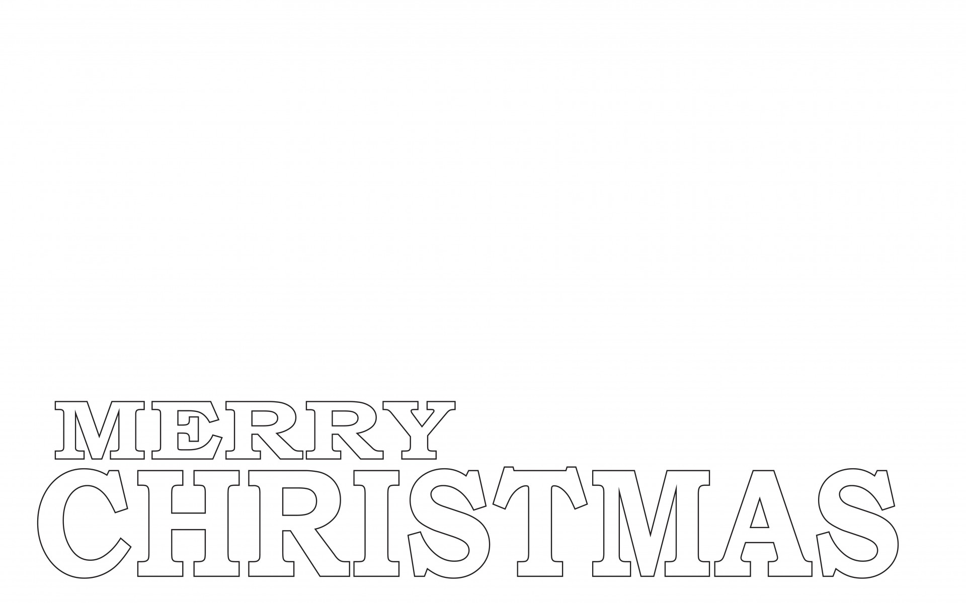 wordsmerrychristmasoutlineartcoloringlayersmerry christmas