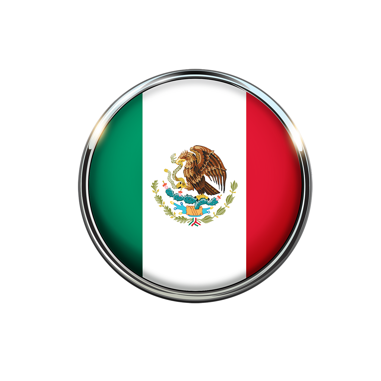 mexico flag circle free photo