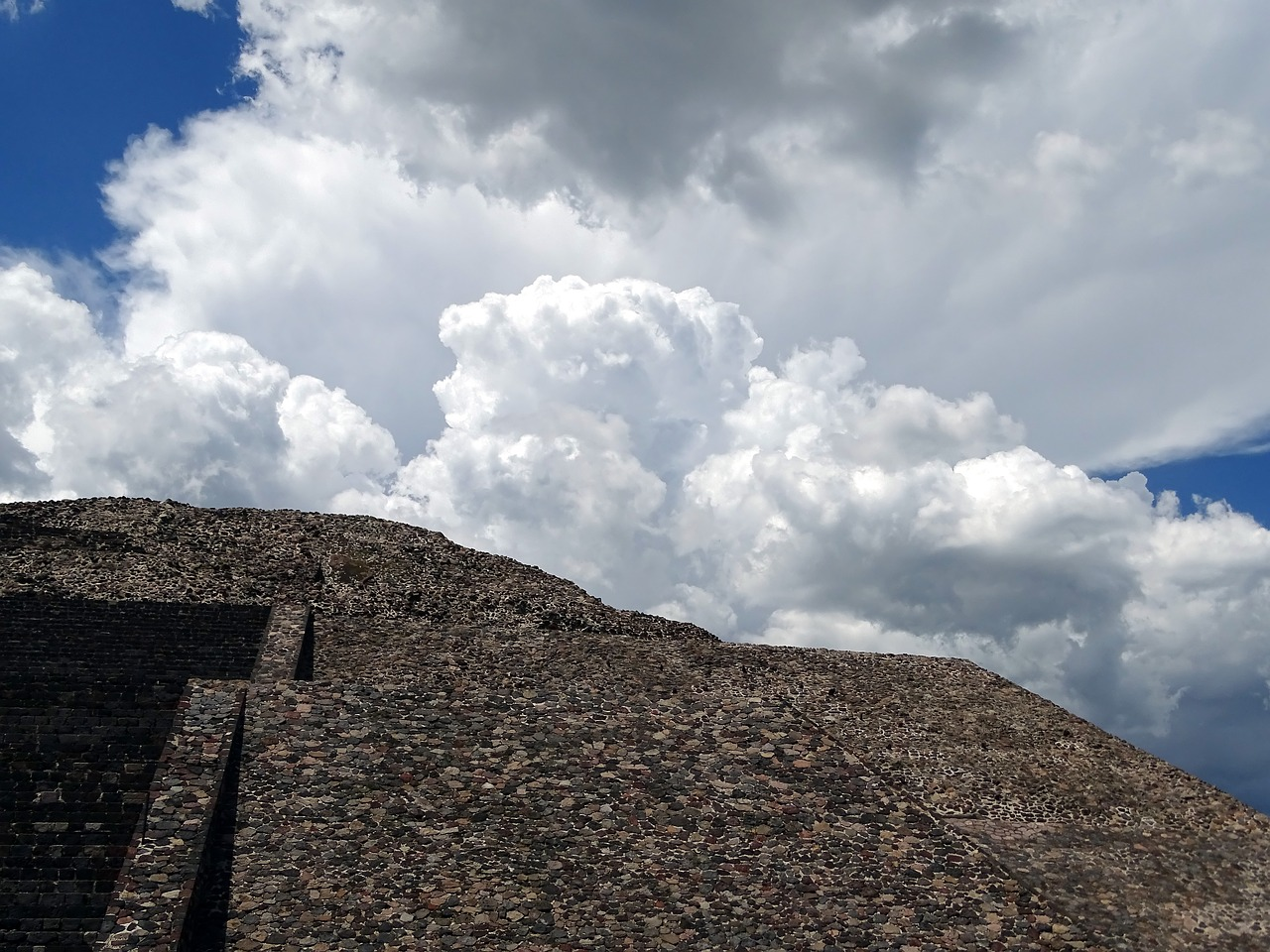 mexico teotihuacan pyramid of the moon free photo