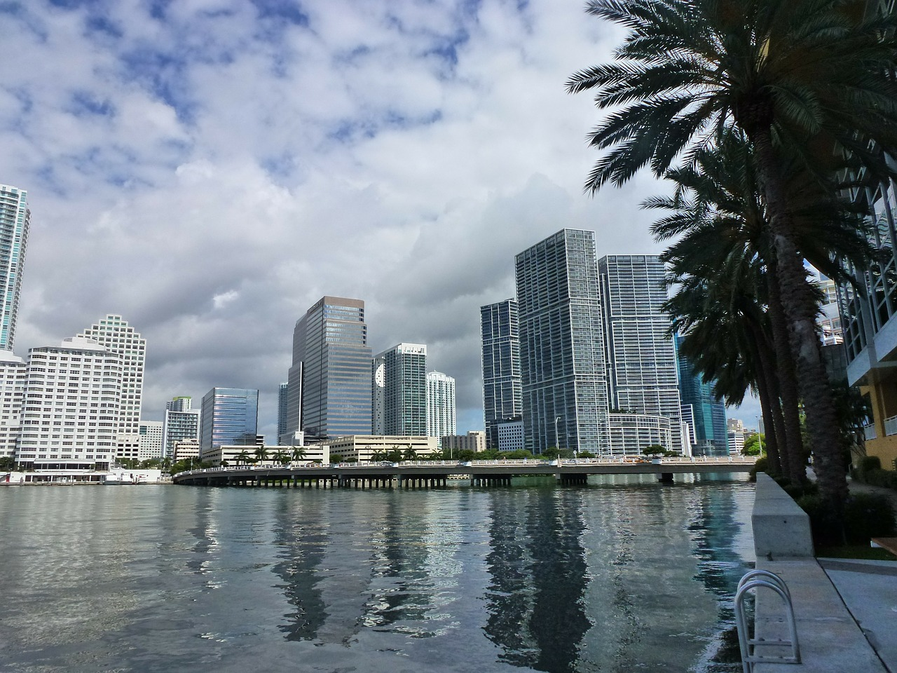 miami florida skyline free photo