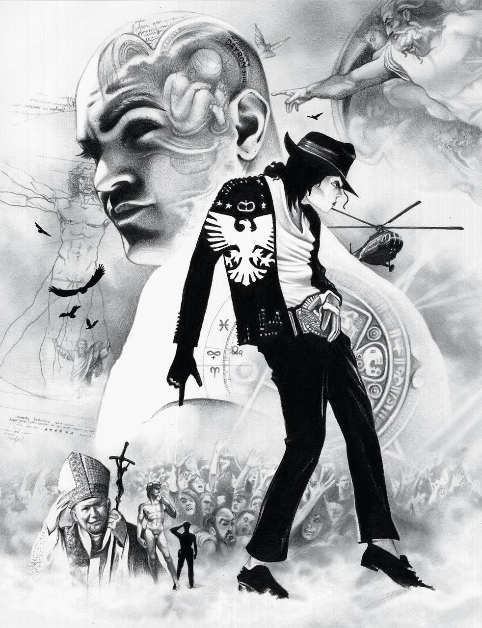 michael jackson jackson drawing free photo