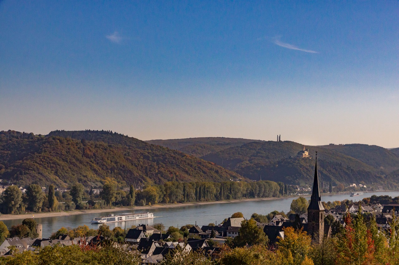 middle rhine autumn sachsen free photo