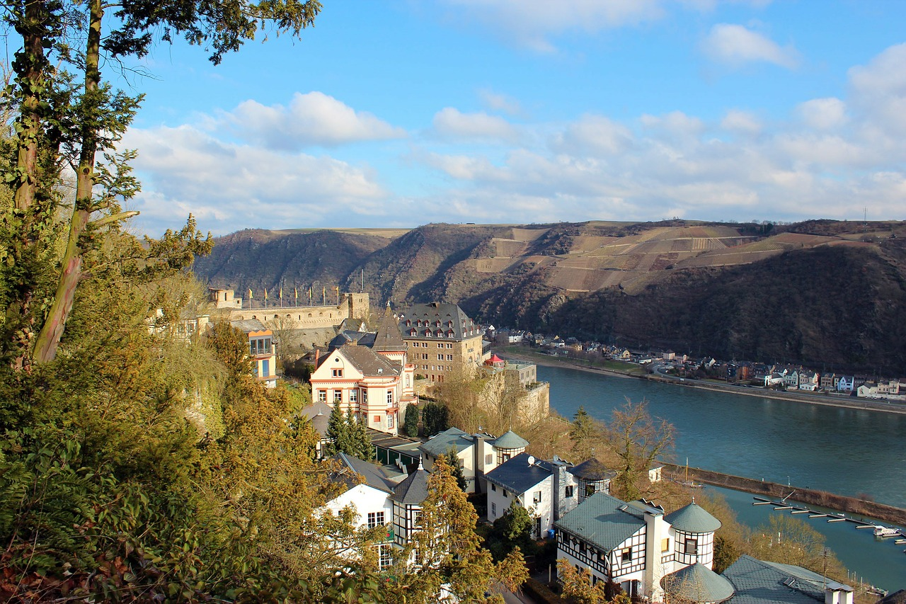 middle rhine rhine river free photo