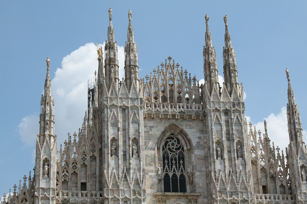 milan dom architecture free photo