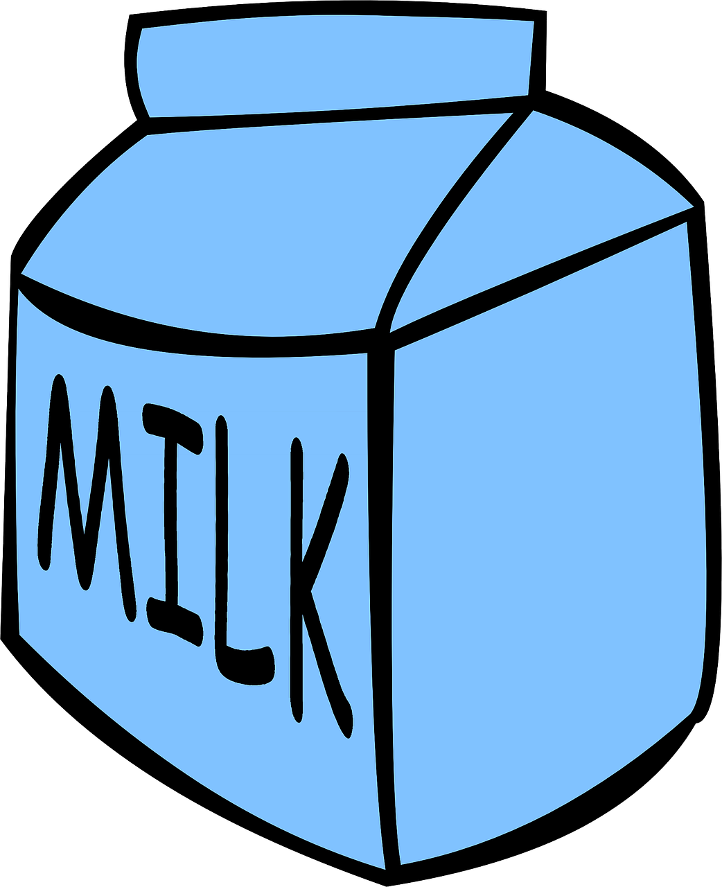 milk carton blue free photo