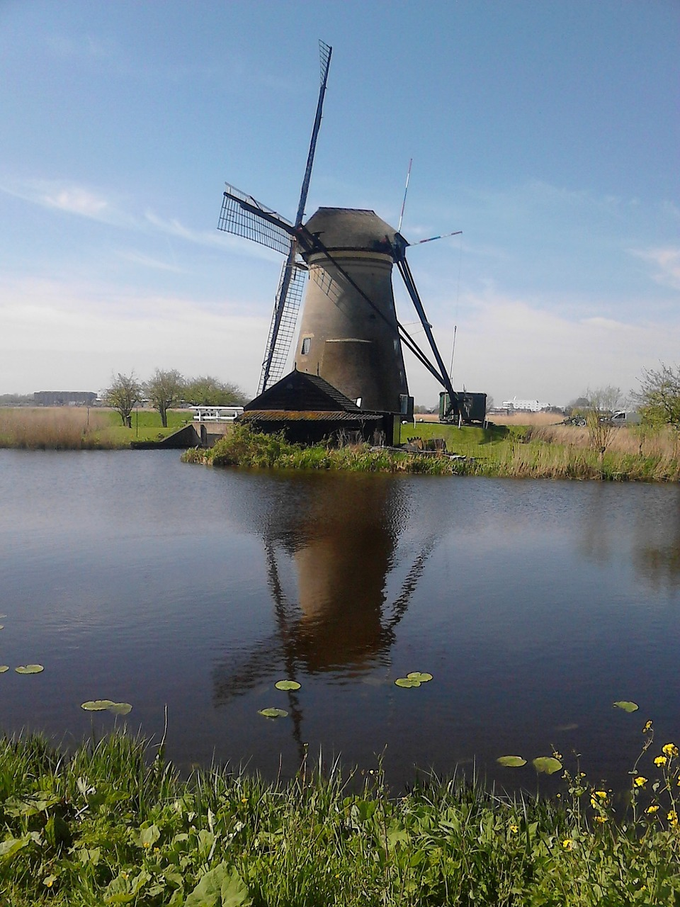 mill netherlands kinderdijk free photo