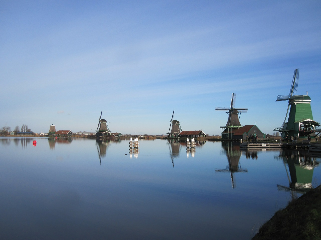 mills water zaanse schans free photo