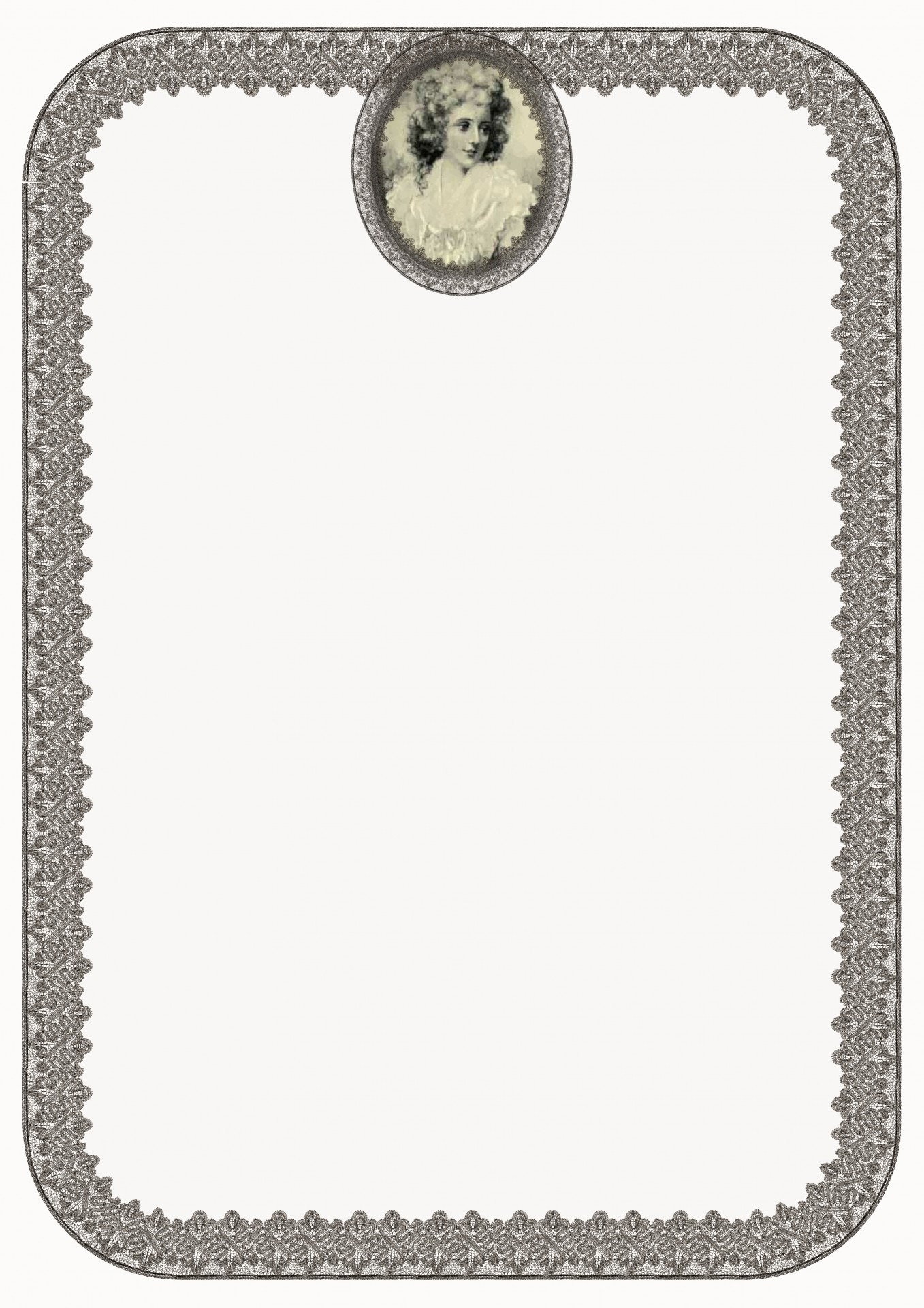 miniature lace border template sepia free photo from
