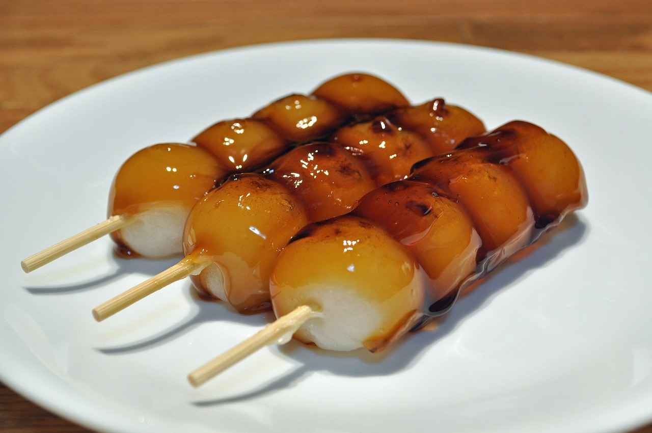 mitrashi dango food glazed free photo