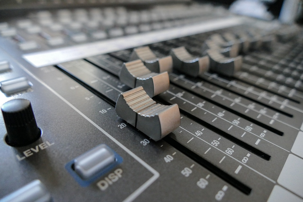 mixer fader digital console free photo