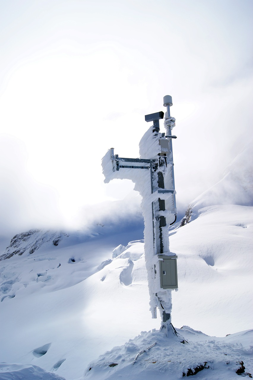mobile telephone mast jungfraujoch mountains free photo