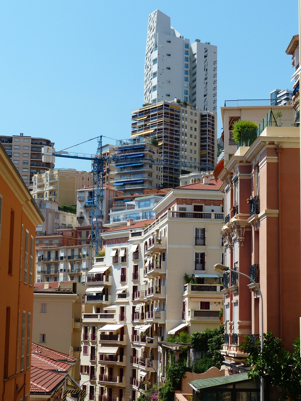 monaco street canyons skyscrapers free photo