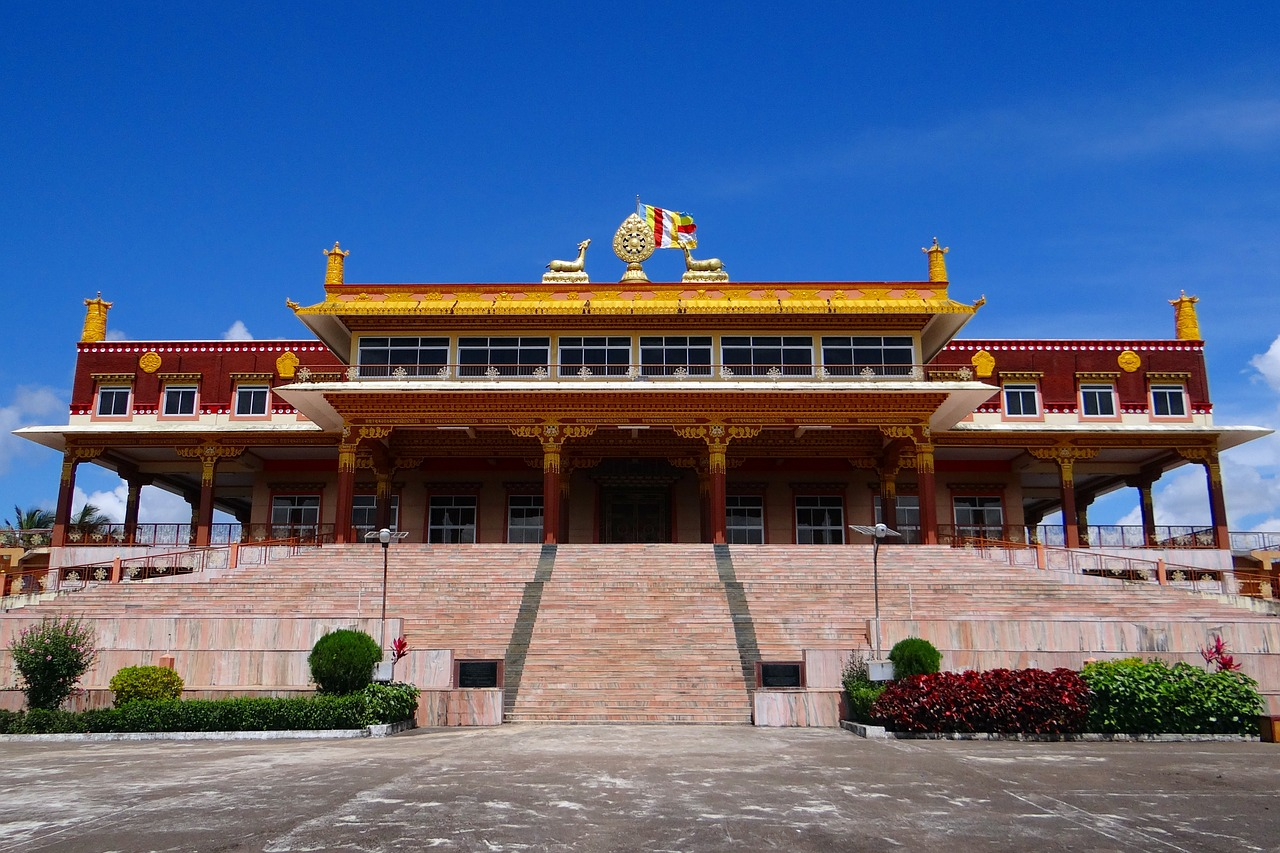 monastery gaden jangtse building free photo