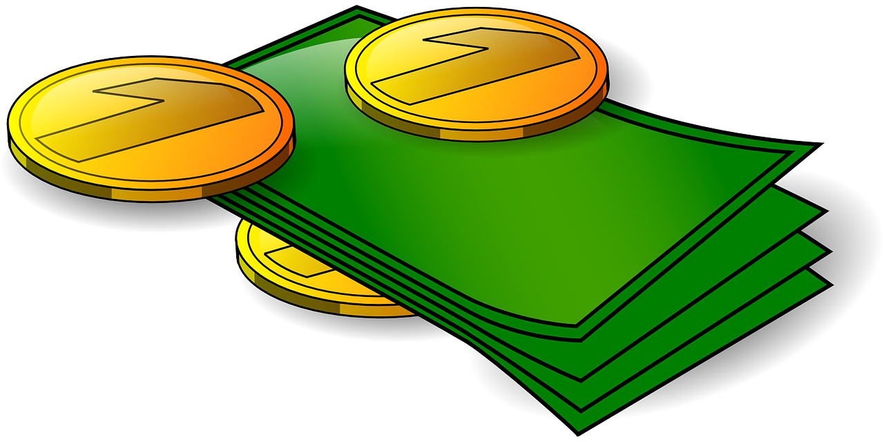 money,cash,dollars,pennies,coins,currency,bills,green,gold,finance,savings,profit,earnings,free vector graphics,free pictures, free photos, free images, royalty free, free illustrations, public domain