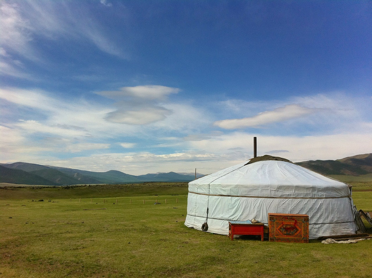 mongolia landscape sky free photo
