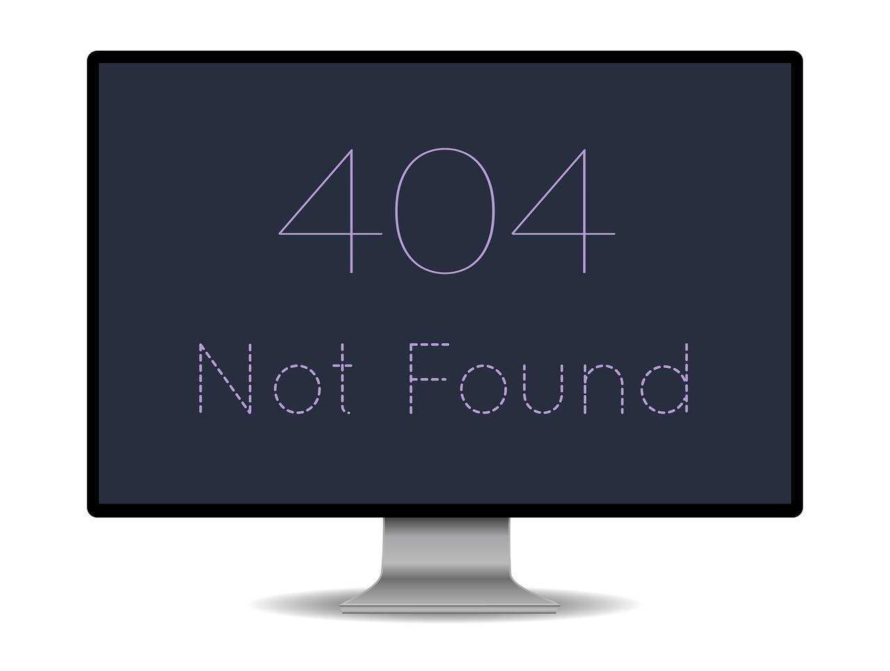 Image result for error 404 link not found for better explaining broken links and ultimately backlinks for SEO