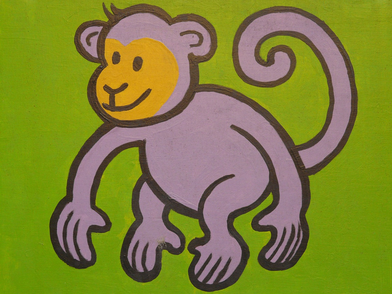 monkey cartoon character drawing free photo