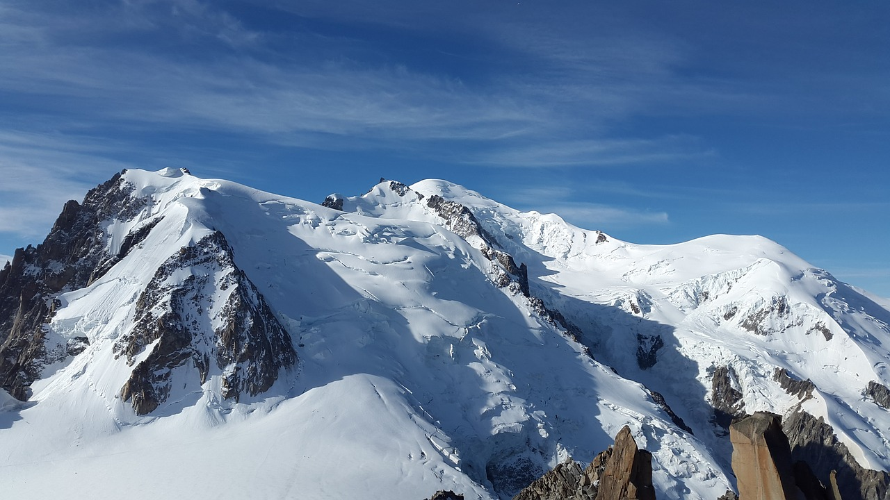 mont blanc high mountains alpine free photo