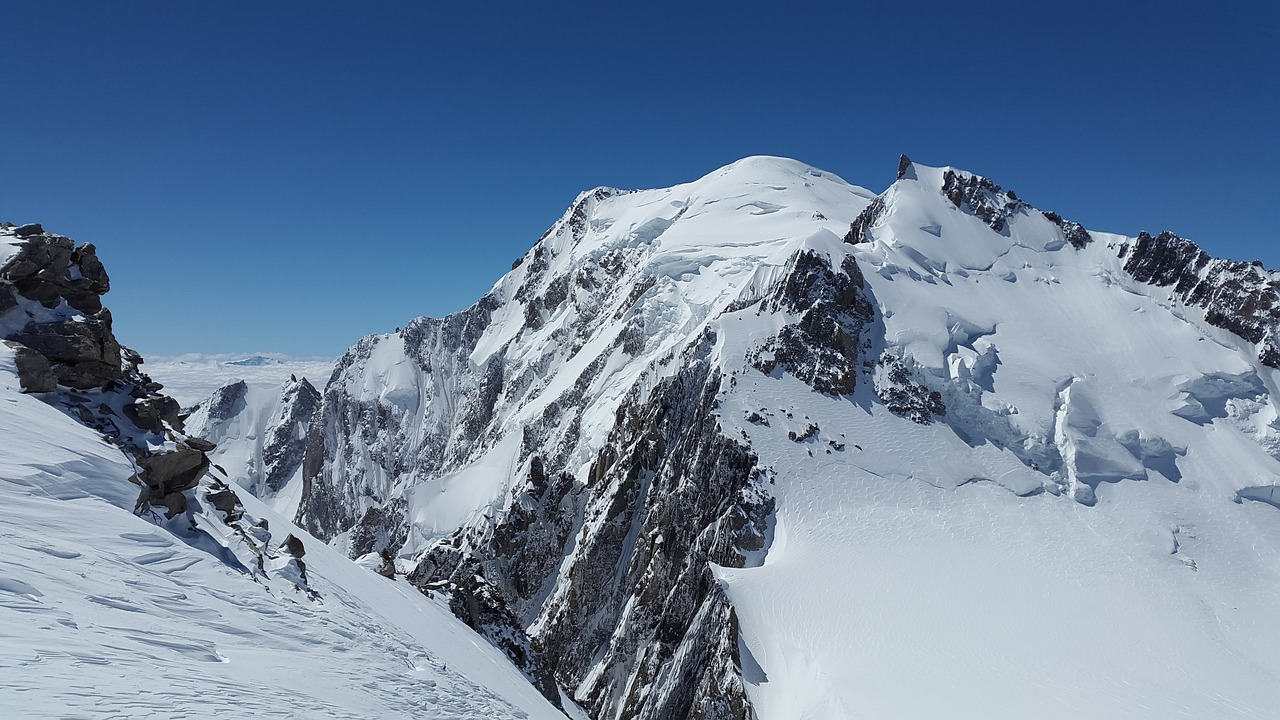 mont maudit mont blanc high mountains free photo